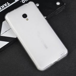Силиконовый матовый полупрозрачный чехол для Samsung Galaxy S4 Mini Белый