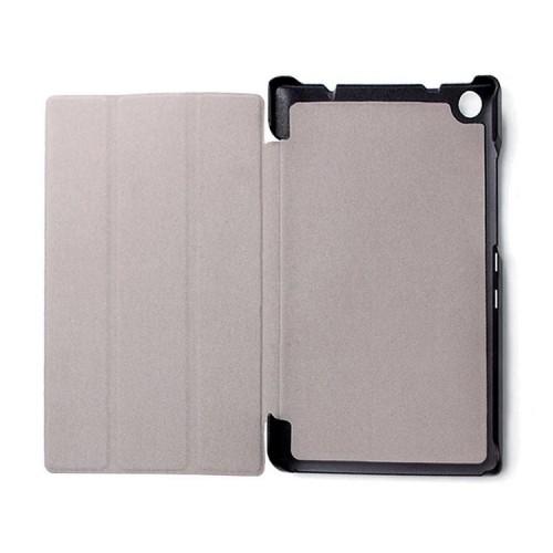 Сегментарный чехол книжка подставка на непрозрачной поликарбонатной основе с полноповерхностным принтом для Lenovo Tab 3 8