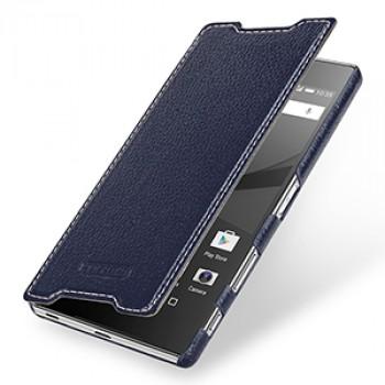 Кожаный чехол горизонтальная книжка (премиум нат. кожа) для Sony Xperia Z5 Premium