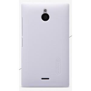 Пластиковый матовый премиум чехол для Nokia Lumia 530 Белый