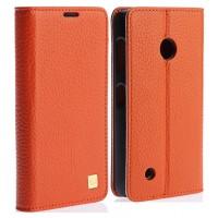 Кожаный чехол флип с пластиковым основанием для Nokia Lumia 530