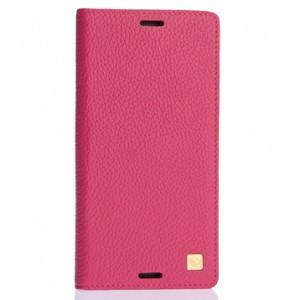 Кожаный чехол флип с пластиковым основанием для Nokia Lumia 530 Пурпурный