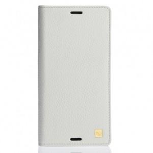 Кожаный чехол флип с пластиковым основанием для Nokia Lumia 530 Белый