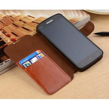 Чехол портмоне подставка с защелкой для Philips i908