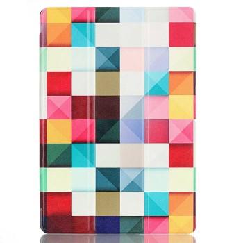 Сегментарный чехол книжка подставка на непрозрачной поликарбонатной основе с полноповерхностным принтом для Lenovo Tab 2 A10-30