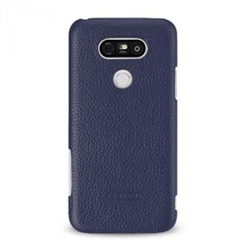 Кожаный чехол накладка (премиум нат. кожа) для LG G5
