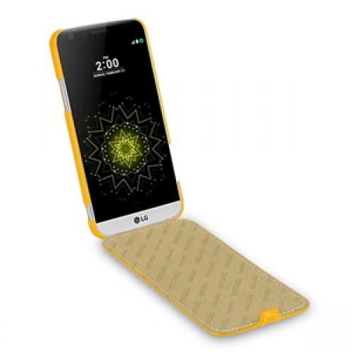 Кожаный чехол вертикальная книжка (премиум нат. кожа) для LG G5