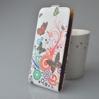 Чехол вертикальная книжка на пластиковой основе с полноповерхностным принтом на магнитной защелке для Alcatel OneTouch Pop Star 3G 5022d