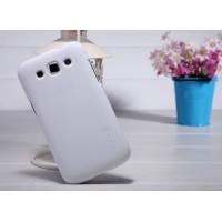 Премиум пластиковый матовый чехол для Samsung Galaxy Win Белый