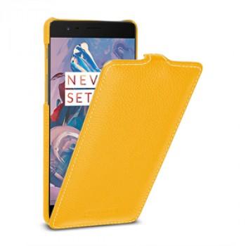 Кожаный чехол вертикальная книжка (премиум нат. кожа) для OnePlus 3