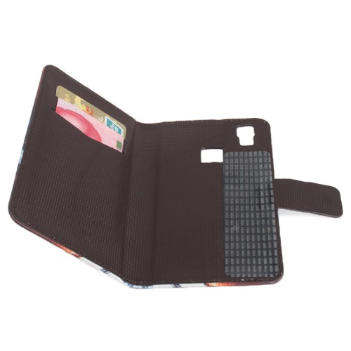 Чехол портмоне подставка на клеевой основе с полноповерхностным принтом на магнитной защелке для Doogee X5 Max
