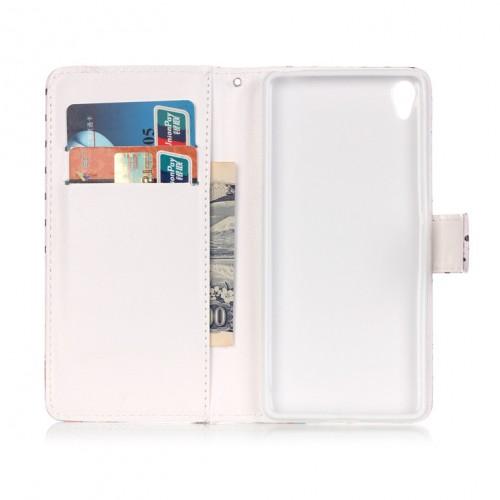 Чехол портмоне подставка на силиконовой основе с полноповерхностным принтом на магнитной защелке для Sony Xperia XA