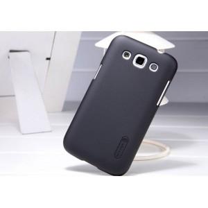 Премиум пластиковый матовый чехол для Samsung Galaxy Win Черный