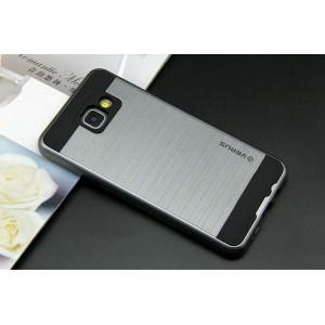 Противоударный двухкомпонентный силиконовый матовый непрозрачный чехол с поликарбонатными вставками экстрим защиты для Samsung Galaxy A5 (2016)
