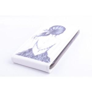 Чехол горизонтальная книжка на силиконовой основе с полноповерхностным принтом на магнитной защелке для Lenovo A606