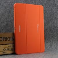 Чехол флип подставка сегментарный для Samsung Galaxy Tab 4 10.1 Оранжевый