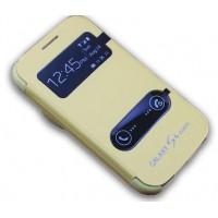 Чехол флип Full Photo Cover с окном вызова и свайпом для Samsung Galaxy S4 Zoom Желтый