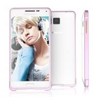 Металлический бампер для Samsung Galaxy Alpha Розовый