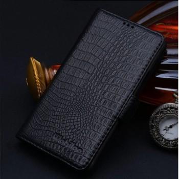 Кожаный чехол портмоне (нат. кожа крокодила) для Samsung Galaxy Alpha