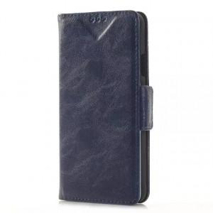 Чехол портмоне подставка с защелкой для Samsung Galaxy Alpha Синий