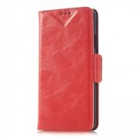 Чехол портмоне подставка с защелкой для Samsung Galaxy Alpha Красный