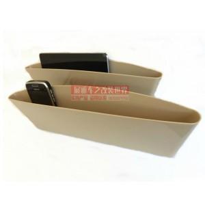 Многофункциональный автомобильный полипропиленовый карман для гаджетов Бежевый