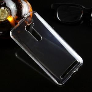 Силиконовый глянцевый транспарентный чехол для ASUS ZenFone 2 5