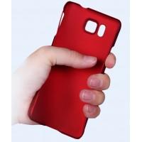Пластиковый матовый непрозрачный чехол для Samsung Galaxy Alpha Красный