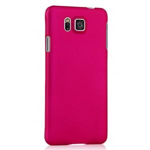 Пластиковый матовый непрозрачный чехол для Samsung Galaxy Alpha Пурпурный