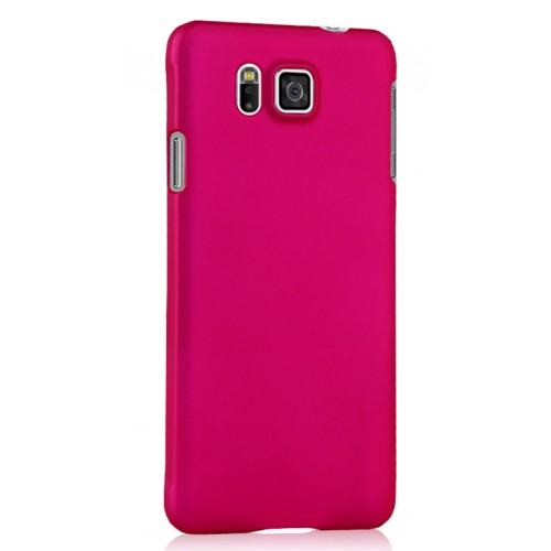 Пластиковый матовый непрозрачный чехол для Samsung Galaxy Alpha