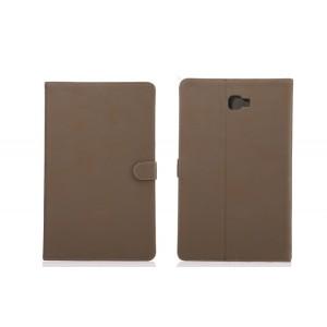 Винтажный чехол книжка подставка на непрозрачной поликарбонатной основе с магнитной защелкой для Samsung Galaxy Tab A 10.1 (2016)
