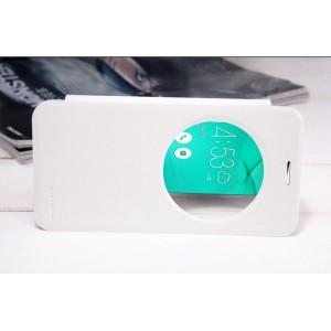 Чехол флип на пластиковой матовой нескользящей премиум основе с окном вызова для ASUS ZenFone Max