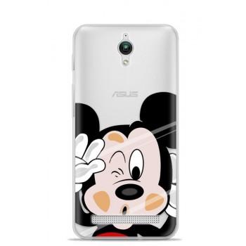 Силиконовый матовый непрозрачный чехол с принтом для ASUS ZenFone Go 4.5