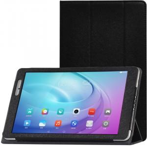 Сегментарный чехол книжка подставка с рамочной защитой экрана текстура Золото для Huawei MediaPad T2 10.0 Pro Черный