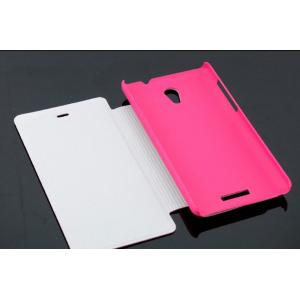 Чехол горизонтальная книжка подставка на пластиковой основе с отсеком для карт на магнитной защелке для Highscreen Power Five