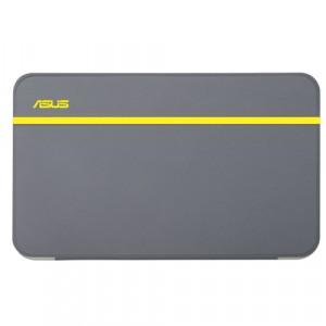 Оригинальный смарт чехол инвертная подставка на пластиковой полупрозрачной основе для планшета ASUS MemoPad 7 ME176C Желтый