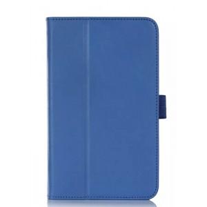 Чехол подставка с рамочной защитой серия Full Cover для ASUS MemoPad 7 Me176C Синий
