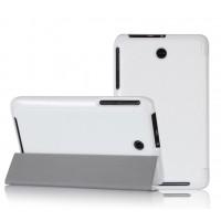 Чехол смарт флип подставка сегментарный для планшета ASUS MemoPad 7 ME176C Белый