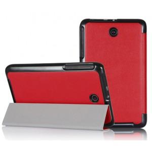 Чехол смарт флип подставка сегментарный для планшета ASUS MemoPad 7 ME176C Красный