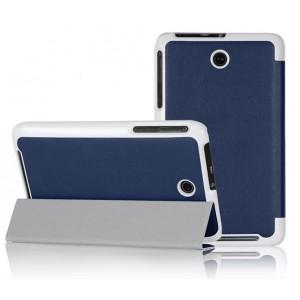 Чехол смарт флип подставка сегментарный для планшета ASUS MemoPad 7 ME176C Синий