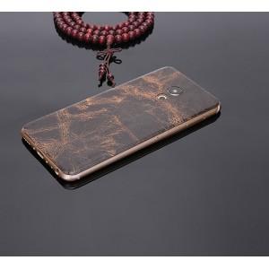 Экстратонкая клеевая кожаная накладка для Meizu MX6