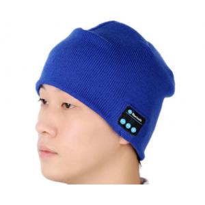 Шерстяная шапка с наушниками, микрофоном и функцией беспроводной bluetooth 3.0 стерео гарнитуры Синий