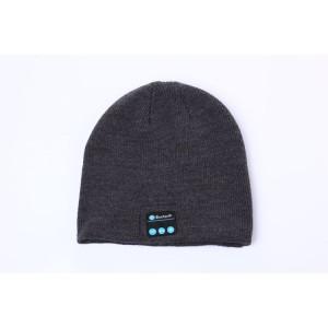 Шерстяная шапка с наушниками, микрофоном и функцией беспроводной bluetooth 3.0 стерео гарнитуры Серый