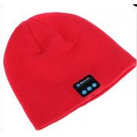 Шерстяная шапка с наушниками, микрофоном и функцией беспроводной bluetooth 3.0 стерео гарнитуры Красный