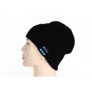 Шерстяная шапка с наушниками, микрофоном и функцией беспроводной bluetooth 3.0 стерео гарнитуры Черный