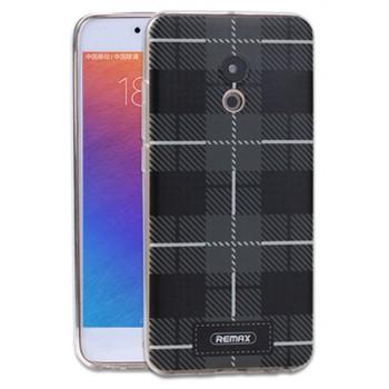 Силиконовый матовый непрозрачный чехол с объемно-рельефным принтом для Meizu Pro 6