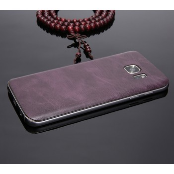 Экстратонкая клеевая кожаная накладка для Samsung Galaxy S7 Edge