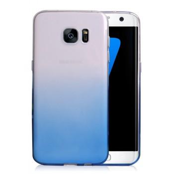 Силиконовый матовый полупрозрачный градиентный чехол для Samsung Galaxy S7 Edge