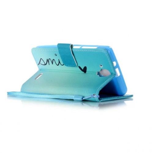 Чехол портмоне подставка на силиконовой основе с полноповерхностным принтом на магнитной защелке для Lenovo A536 Ideaphone