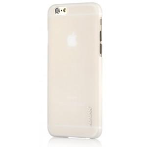 Пластиковый непрозрачный матовый чехол для Iphone 6 Plus Белый